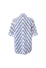 "Load image into Gallery viewer, ""SANDALS ONLY"" WRAP SHIRT - BLUE CRETONE - Lemiché"