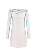 Load image into Gallery viewer, LIGHT GREY OPEN-SLEEVE MINI DRESS - Lemiché