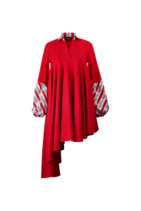 """SUNSWIRL COCKTAIL"" DRESS – RED BELMONTE - Lemiché"