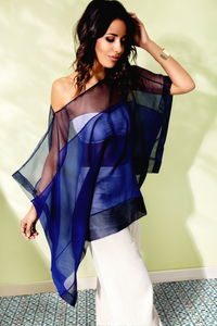 SHEER SILK CHIFFON TUNIC - Lemiché