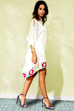 Load image into Gallery viewer, WHITE SILK KAFTAN - Lemiché