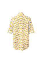 "Load image into Gallery viewer, ""SANDALS ONLY"" WRAP SHIRT - YELLOW CRETONE - Lemiché"