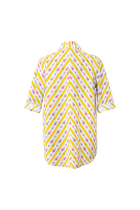 """SANDALS ONLY"" WRAP SHIRT - YELLOW CRETONE - Lemiché"