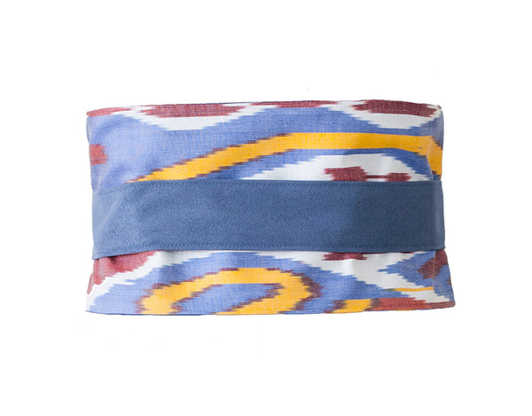 Blue wide fabric belt