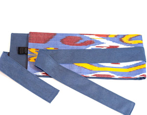 Colorful wrap fabric belt