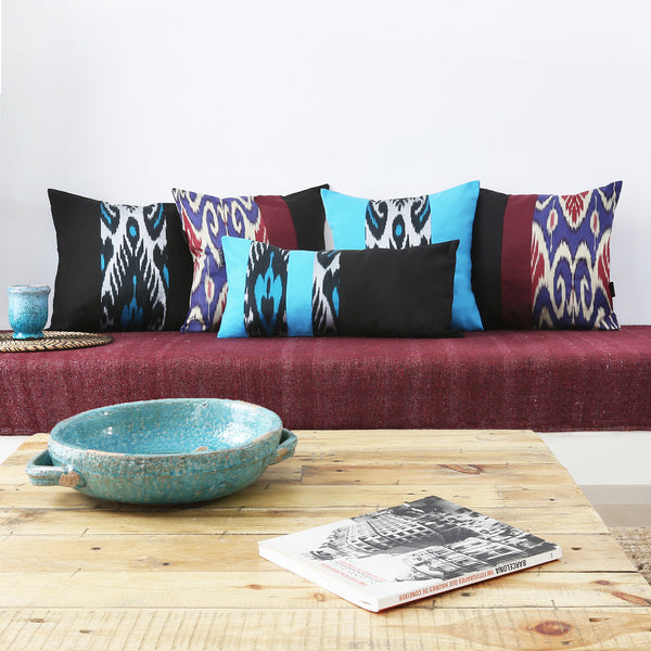 Uzbekistan ikat decorative throw pillow cases