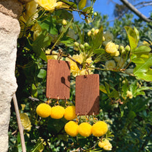 "Load image into Gallery viewer, ""LEMON TREE"" WOOD POM POM EARRINGS"
