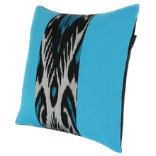 Load image into Gallery viewer, TURQUOISE AND BLACK PILLOW COVER - SET OF 2