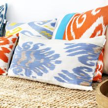 Load image into Gallery viewer, Uzbekistan silk ikat cushion covers for long lumbar pillows