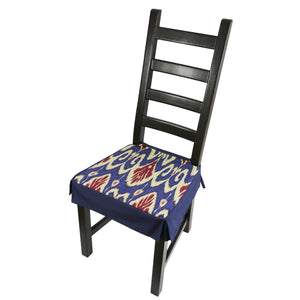 Dining chair cover - blue and red