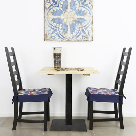 Uzbekistan ikat dining chair covers