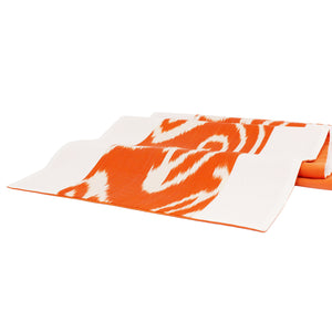 ORANGE COLORBLOCK IKAT TABLE RUNNER - Lemiché