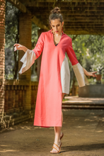 "Load image into Gallery viewer, ""CIRRUS"" ASYMMETRICAL TUNIC - CORAL - Lemiché"