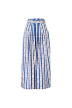 "Load image into Gallery viewer, ""SANDALS ONLY"" WRAP SKIRT - BLUE CRETONE - Lemiché"