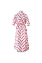 "Load image into Gallery viewer, ""SIESTA"" WRAP DRESS - RED CRETONE - Lemiché"
