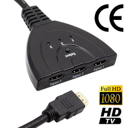 3 Port 1080 P HDMI Splitter Switcher HUB Video Cable