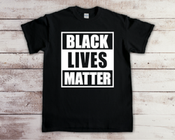 Custom Printed Black Lives Matter T Shirt