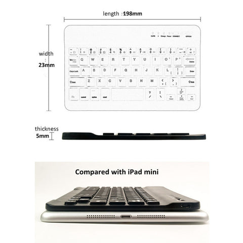 Ultra Slim Multimedia Aluminum Wireless Bluetooth Keyboard
