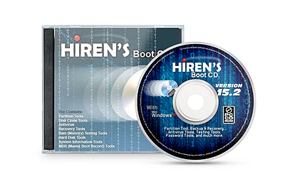 Hiren's Boot CD V15.2 Bootable CD Utility Toolkit