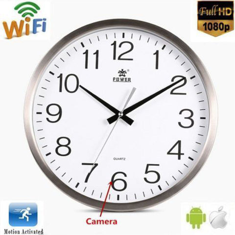 HD Spy Hidden Wall Clock Camera