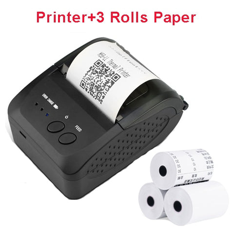 Portable Mini Bluetooth Printer Wireless Thermal Receipt Ticket Printer For Mobile Phone Window 58mm 2inch pos Machine