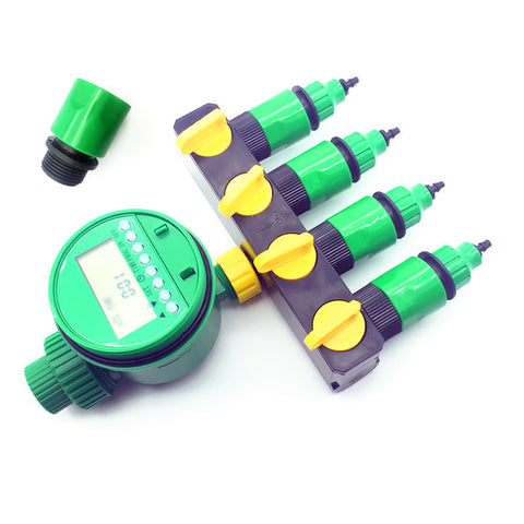 1 set 7 pcs Home Garden irrigation Drip timer Pipe Splitter