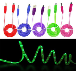 Micro USB Colorful LED Night Light Up Data Sync Charging Cable