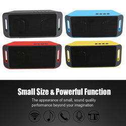 Mini SC208 Bluetooth Portable Wireless Speaker TF USB AUX Music Player