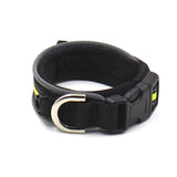 Adjustable Pet Dog collar Cat Dog Padded Collar Reflective Green color