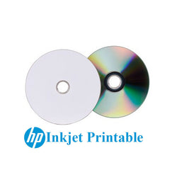 5pc HP Inkjet Printable Blank DVD+RW 16x White Top 4.7GB Re-writable Media Disc