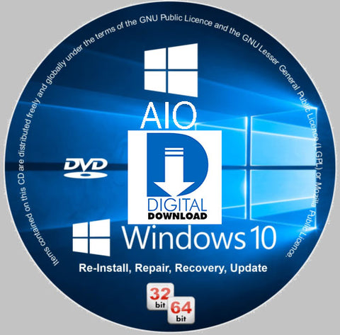 Digital Download Windows 10 AIO Media Toolkit DL