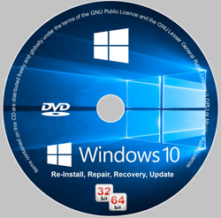 Windows 10 CD Versions 32/64bit Restore Repair Install Upgrade
