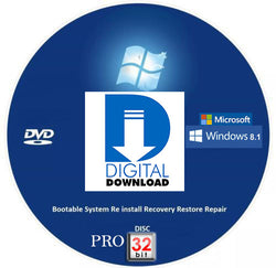 Digital Download Windows 8.1 Pro Recovery Disc DL