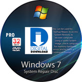 Digital Download Windows 7 Pro Recovery Disc DL