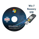Windows 7 Pro Recovery Disc 32 and 64 Bit Versions
