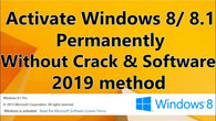 WINDOWS 8.1 PRO 32 / 64 BIT WIN 8.1 LICENSE ACTIVATION KEY