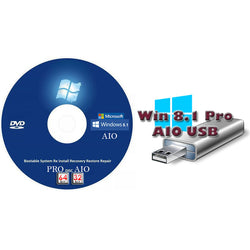 Windows 8.1 Pro Recovery Disc 32 and 64 Bit Versions