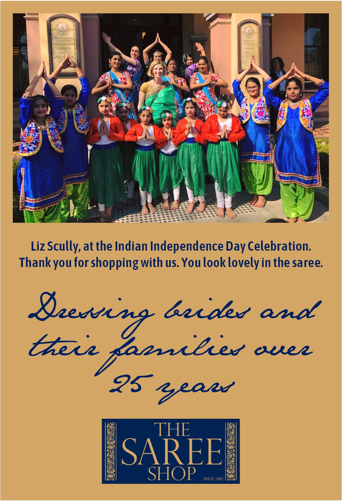 Liz Scully, at the Indian Independence Day Celebration.