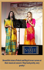 Beautiful sisters Pinkal and Rajal in our sarees
