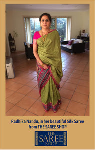 Radhika Nandu in her beautiful Silk Saree