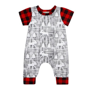 Plaid Forest Romper