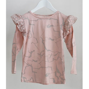Electric Frill Top Pink