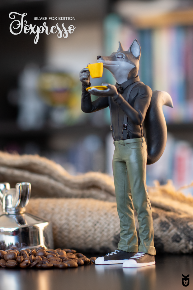 Foxpresso: Silver Fox Edition - KARMIEH Toy Design