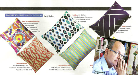 SCMP Sunday Magazine - Summery Cushions Objects of Desire