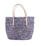 Metisse Straw Bag Blue