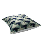 Cushion Mexican Hats  Ivory/Blue/Grey 45x45cm