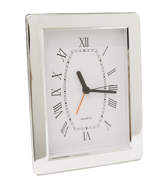 Silver plated Salerno Clock