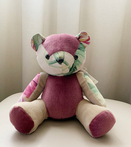 Purple Floral Artisan Bear