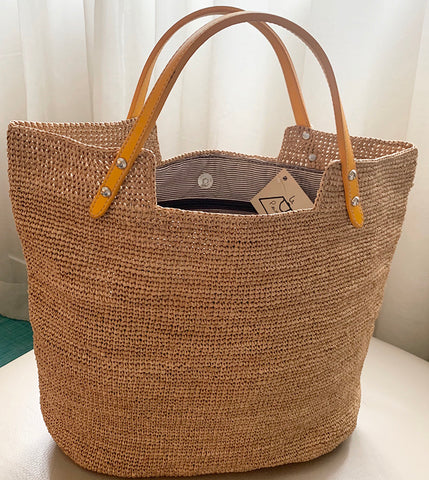 VIKKI Straw Bag Tea/Yellow