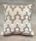 Cushion Cover beaded Velvet Raj Champagne